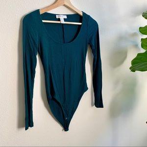 Green Long Sleeve Body Suit